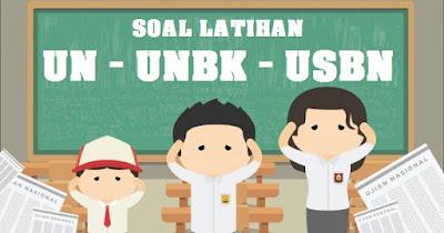 Soal UN UNBK SMA/MA,  SMP/MTS,  dan USBN SD/MI Tahun 2019