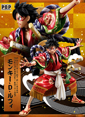 Monkey D Luffy in versione Kabuki-Edition per la Megahouse