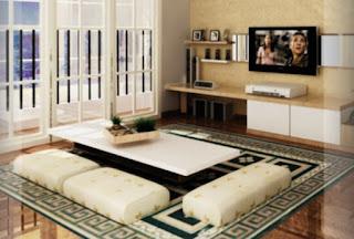 Ruang Tamu Dengan Karpet