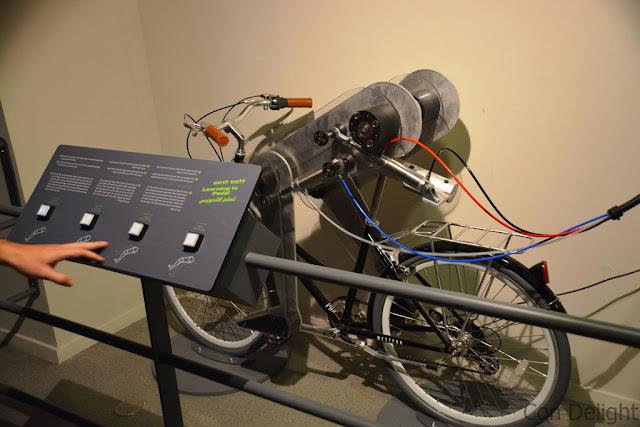 robotic leg on a bike