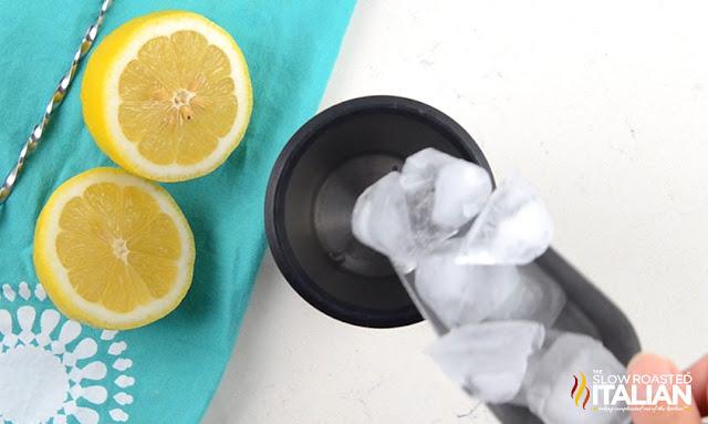 ice in tumbler