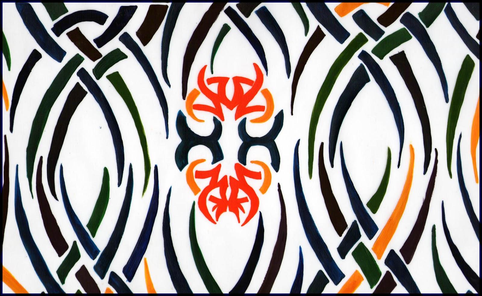 Arte, Siluetas Negras Sobre Fondo Blanco Y Un Poco De