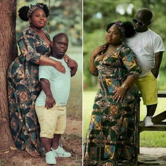 "Checkout this viral pre-wedding shoot of a ""small man' and his big lady"