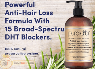 PURA D'OR Anti-Hair Loss the best Organic Argan Oil Shampoo for a beautiful and strong hair