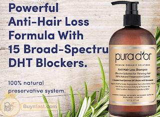 PURA D'OR Anti-Hair Loss the best Organic Argan Oil Shampoo for a beautiful and strong hair