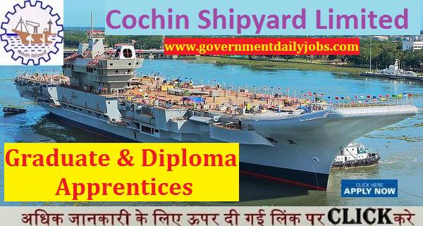 cochin shipyard recruitment 2017 for 172 graduate/diploma apprentice