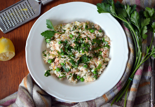 risotto%2Bz%2Bgroszkiem%2Bi%2B%25C5%2582ososiem Risotto z zielonym groszkiem i łososiem
