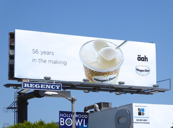 Häagen-Dazs 56 years making äah billboard