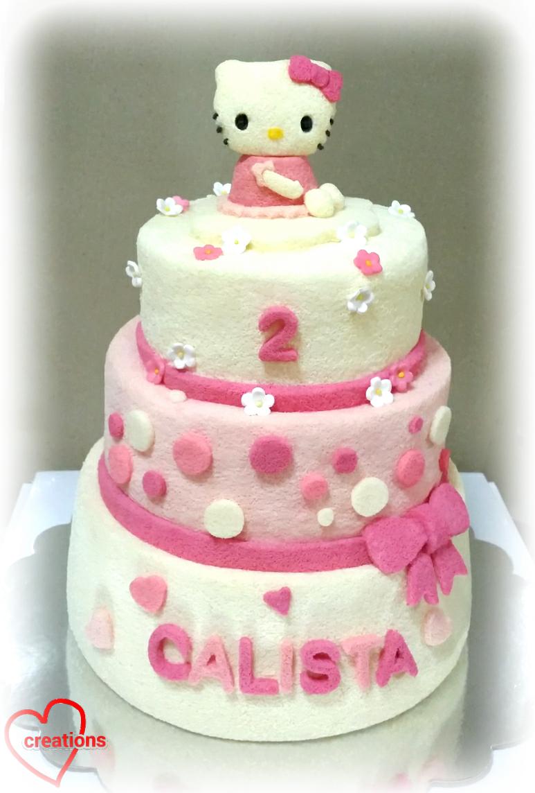 Hello Kitty  Tier Cake