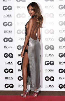 Jourdan Dunn flashes side boob at the GQ Men of the Year Awards 2015
