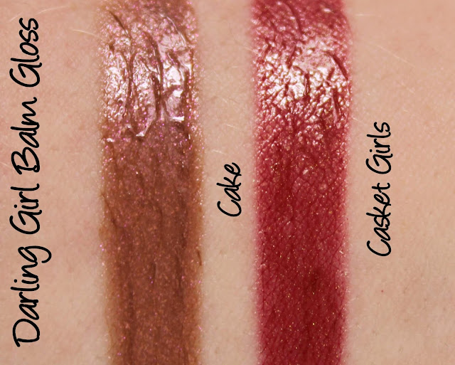 Darling Girl Balm Gloss - Cake and Casket Girls Swatches & Review