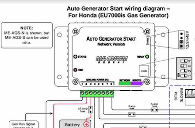 Honda EU7000is Wiring Diagram  Wiring Diagram Service