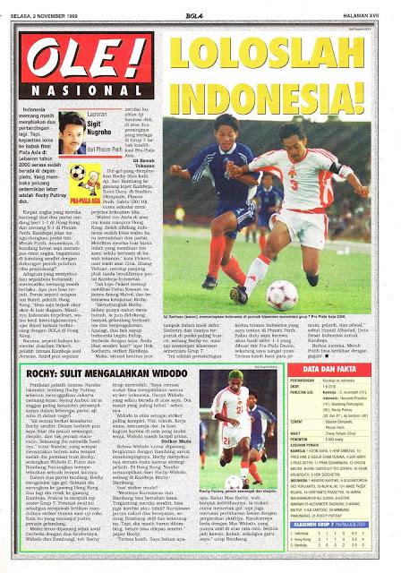 SEPAKBOLA PRA-PIALA ASIA LOLOSLAH INDONESIA