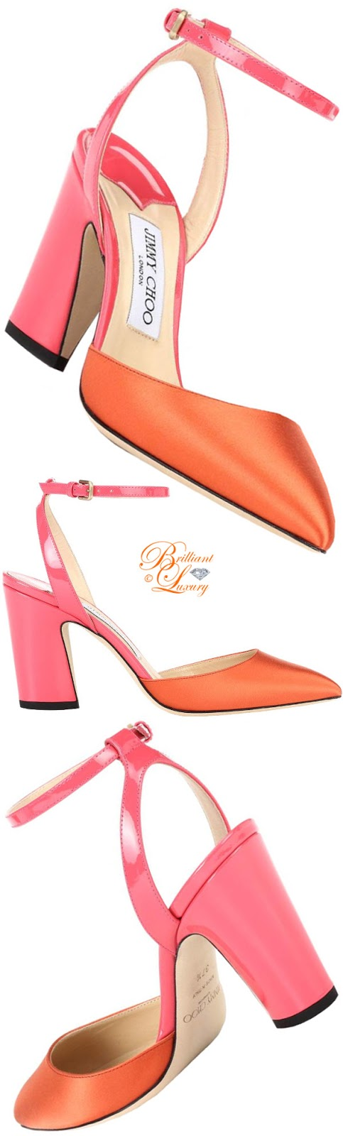 Brilliant Luxury ♦ Jimmy Choo Micky satin sandals #orange