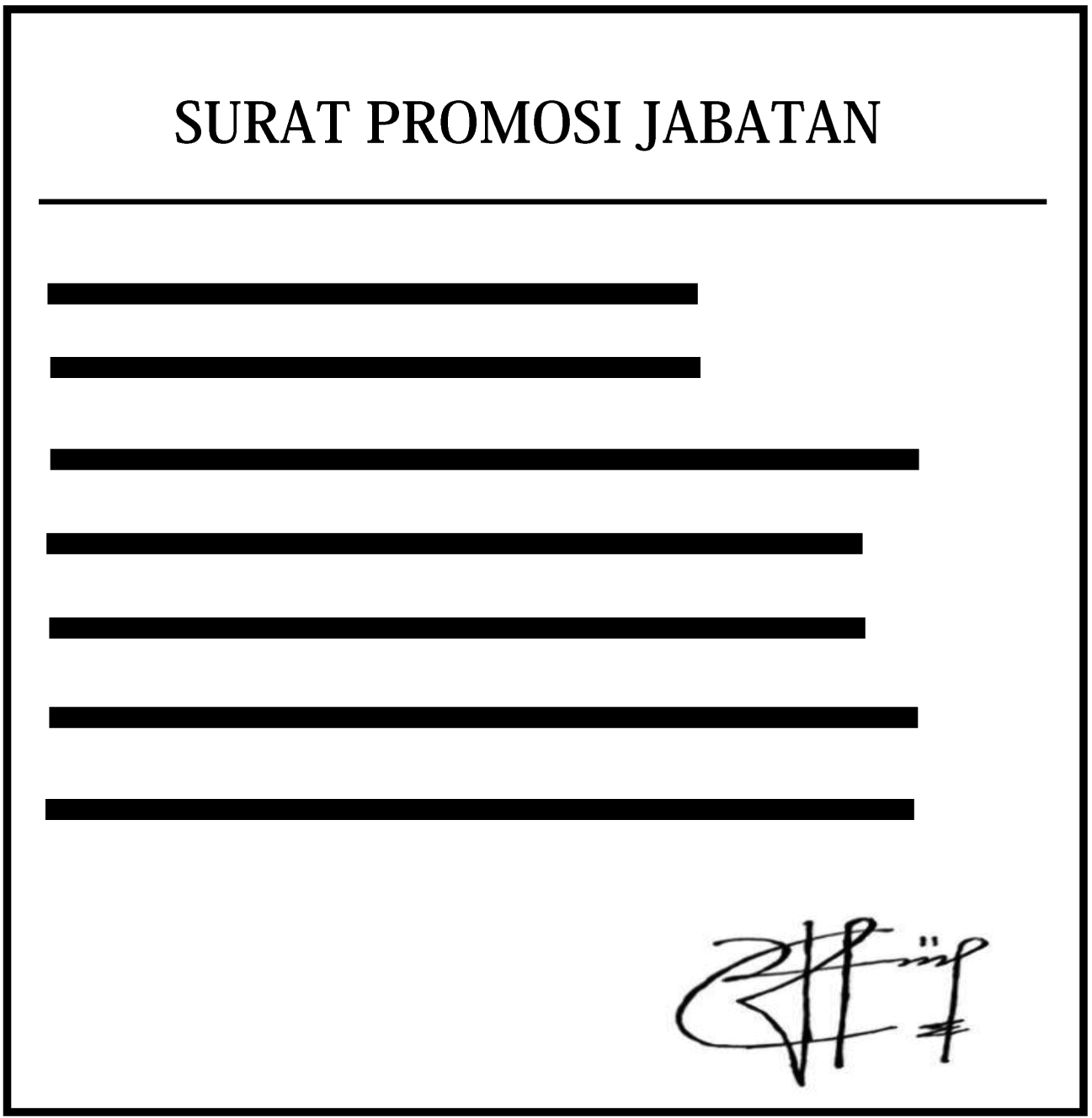 Nulis Coy Contoh Surat Promosi Jabatan