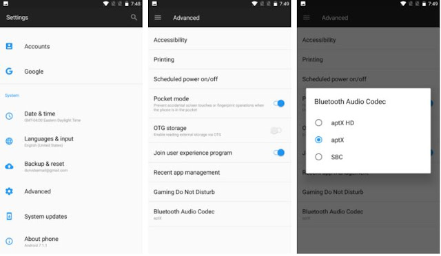 Cara Mengganti Codec Audio Bluetooth di OnePlus 5