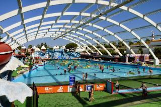 La piscina de olas más grande de Portugal.