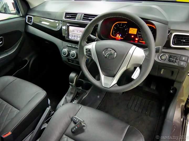 Ruang dalaman Perodua Bezza - Sedan Pertama Perodua 2016