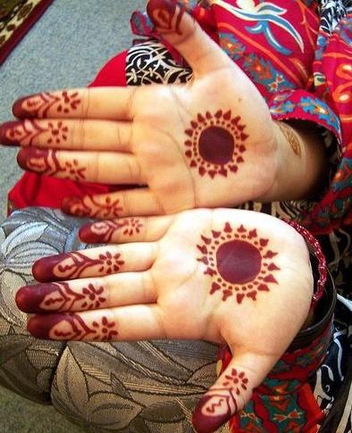 Eid Mehndi Designs for Kids