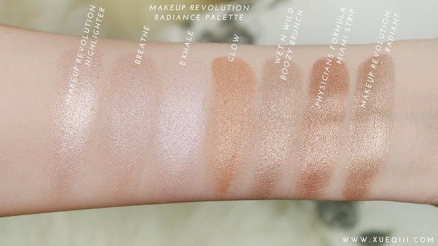 Makeup revolution liquid highlighter rose gold