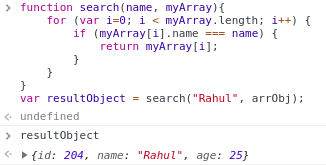 Find value in an array of object