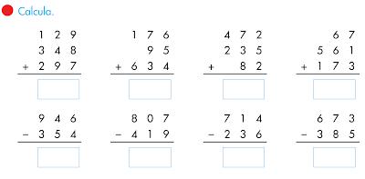 Resultado de imagen para las sumas y restas
