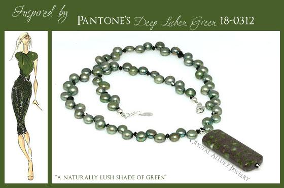 Rhyolite Gemstone Freshwater Pearl Beaded Necklace (N127)