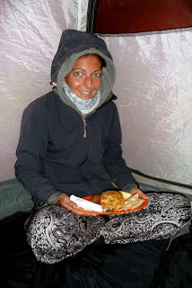 Diner time, tent, Trekking mount Rinjani Indonesia