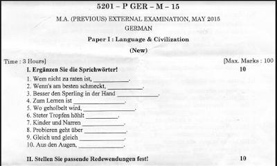 ma german exam paper