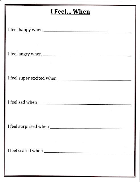 self control worksheets | Sachikoblog