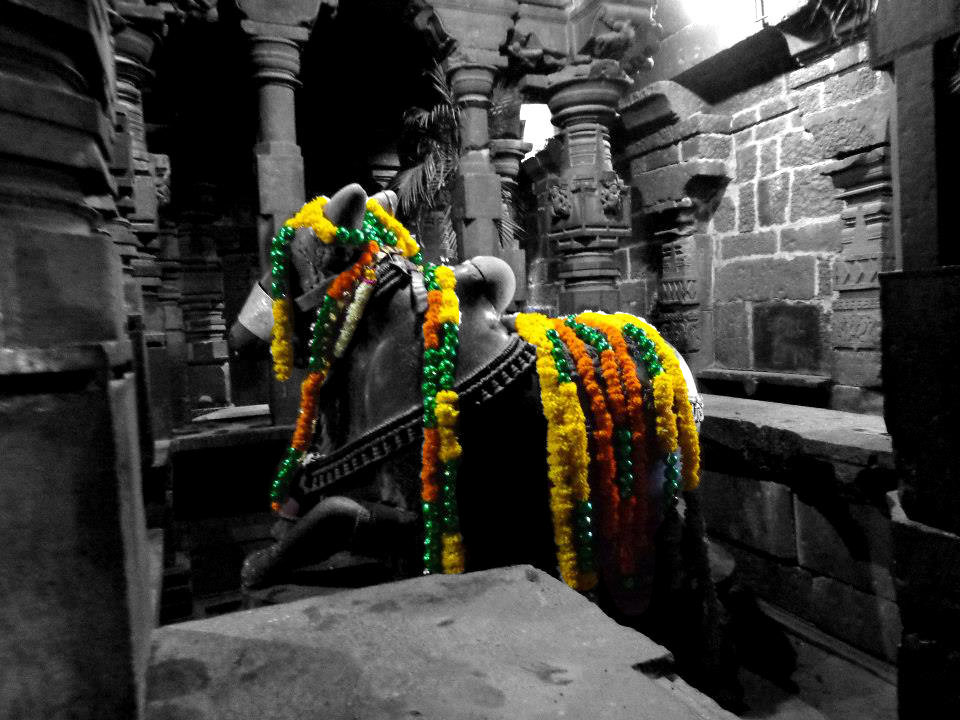 Black and white with color photography