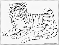 printable tiger kids coloring pages