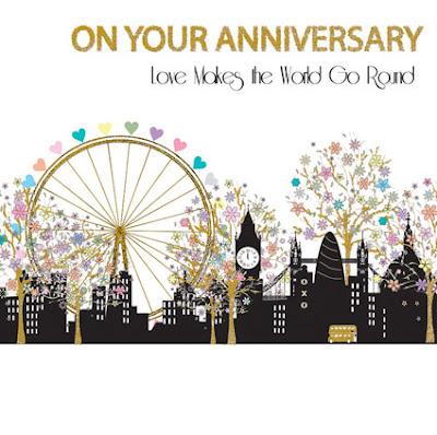 Love London anniversary card