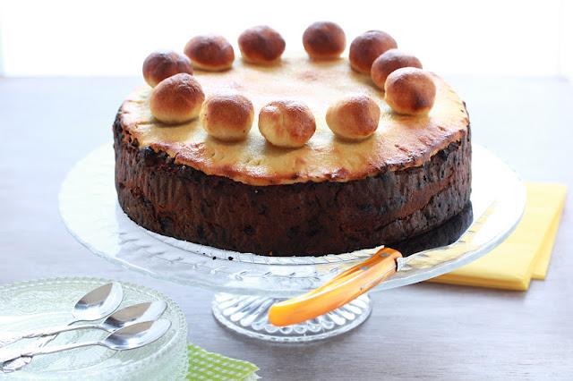 Cake anglais , Pâques ,pâte d'amandes