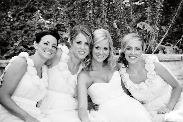 vintage california chic wedding of Oh Lovely Day | Photo by Jennifer Roper; bridesmaid gowns by Lela Rose