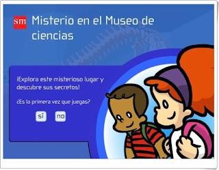 Misterio en el Museo de Ciencias, Aventuras Interactivas, Editorial SM.