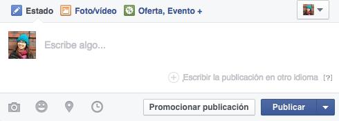 publicar facebook distintos idiomas