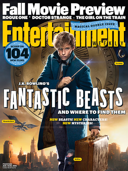 Newt Scamander estampa capa da revista Entertainment Weekly | Ordem da Fênix Brasileira