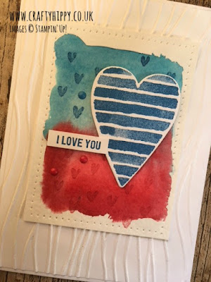 Create this Real Red and Pacific Point Heart Card by Stampin' Up!
