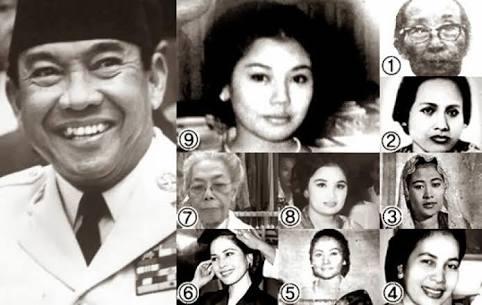 9 istri sukarno