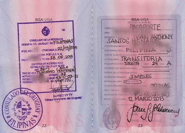 South America: Applying for visas to Argentina, Brazil