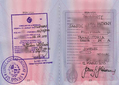 Argentina Uruguay visa application in Philippines