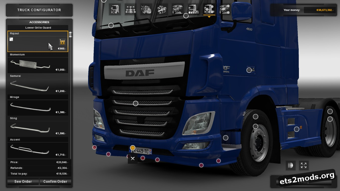 Low Spoiler for DAF Euro 6