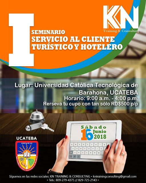 KN Training & Consulting impartirá seminario sobre Servicio al Cliente Turístico y Hotelero en Barahona.