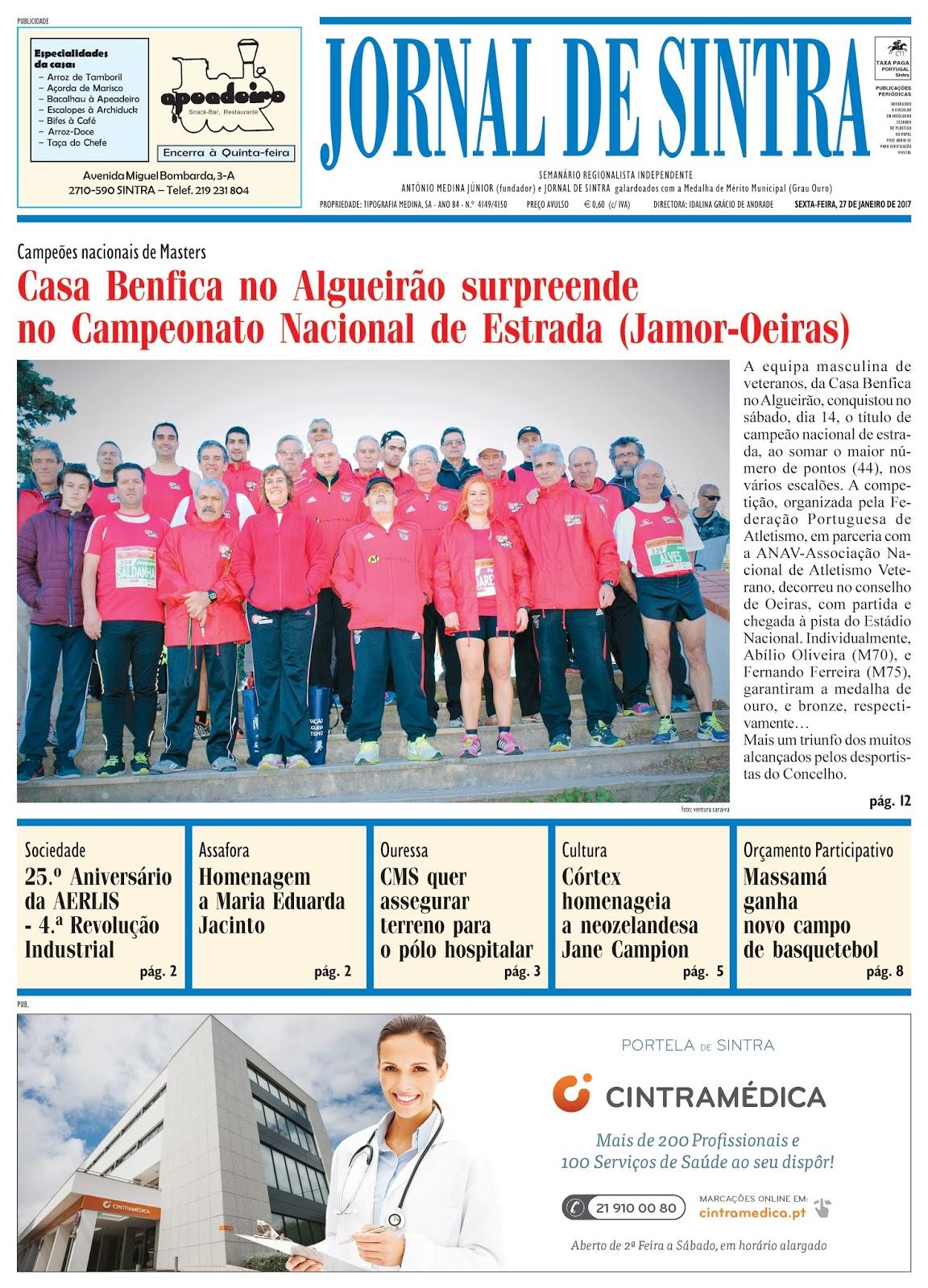 Capa da edição de 27-01-2017