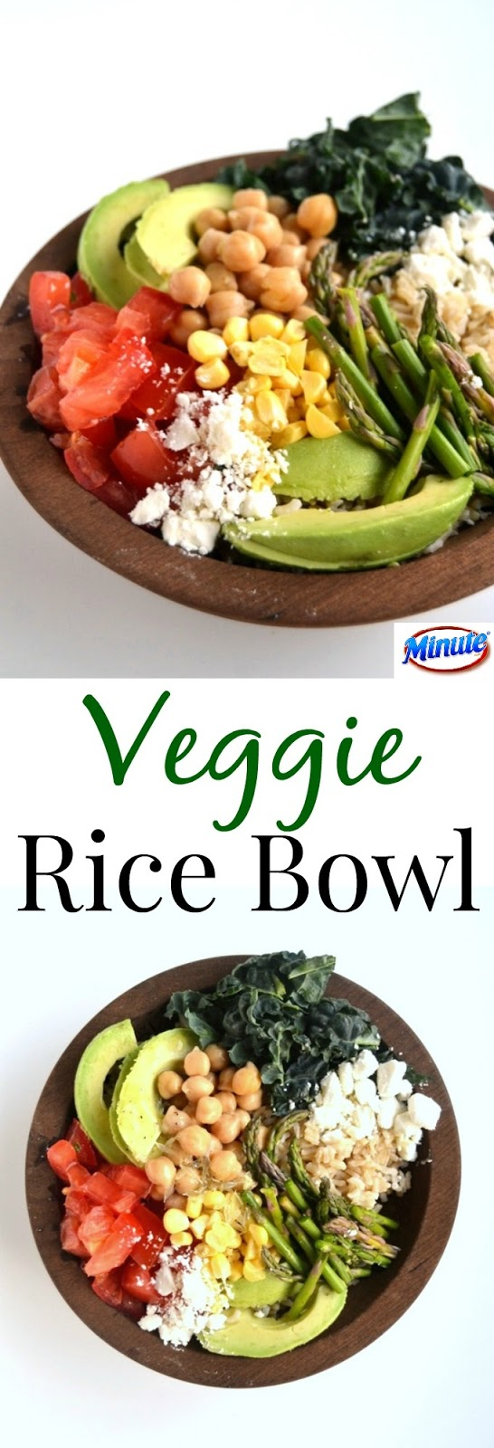 This Veggie Rice Bowl is a hearty and healthy dish that is ready in 20 minutes or less. Packed full of fresh vegetables and topped with a lemon vinaigrette. www.nutritionistreviews.com