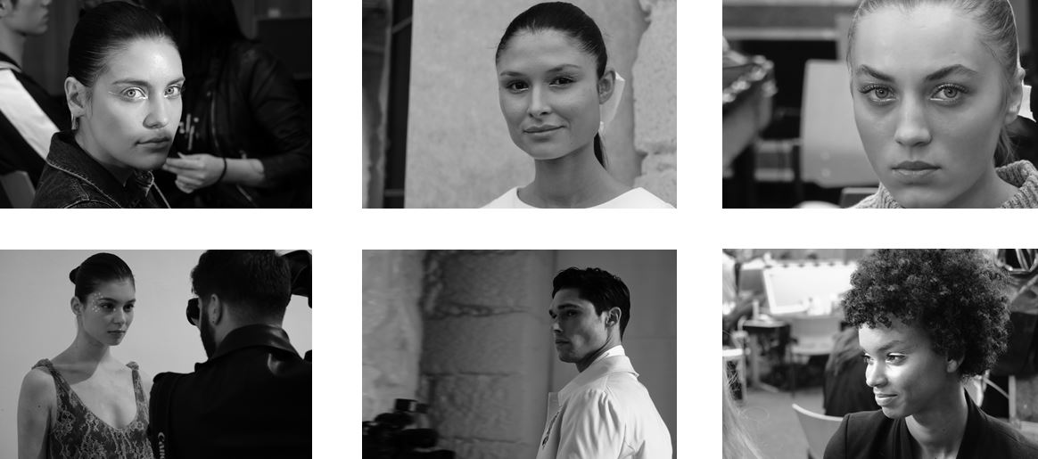 close-ups; black and white; models; girls; just iconic;