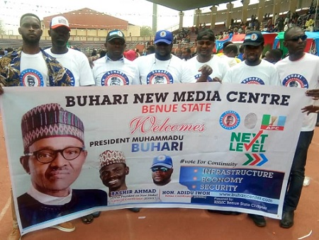 Buhari New Media Centre, Benue State Chapter Welcomes President buhari To Benue State