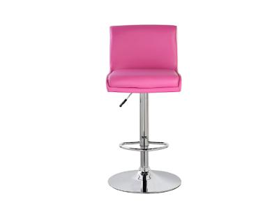 Short square back adjustable height bar stool