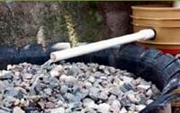 Filtro de llantas para el tratamiento de aguas grises